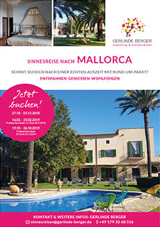coaching sinnesreisen gerlinde berger workshops mallorca 2018